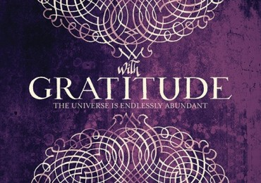 GC 1133B Scrolled Gratitude Purple