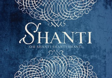 GC 1133C Scrolled Shanti Om Blue