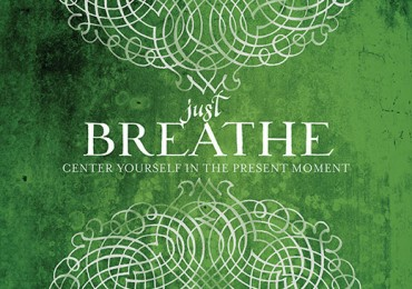 GC 1133F  Scrolled Just Breathe Green